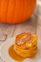 süße Kürbispfannkuchen für Kinder