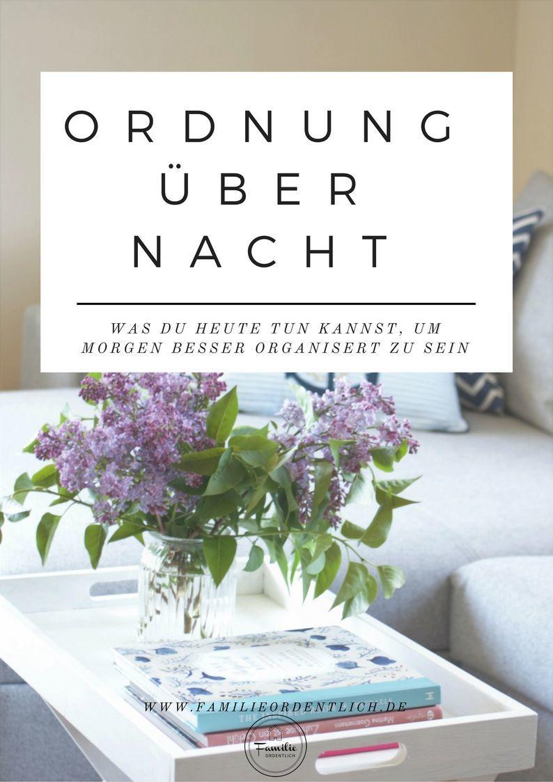Ordnung über Nacht - der Ordnungsguide