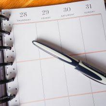 Minimalismus im Kalender